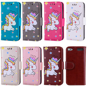 factory authentic a28f1 d8bce Details about For iPod Touch 5/6th Gen Embossed Unicorn PU Leather Flip  Wallet Card Case Cover