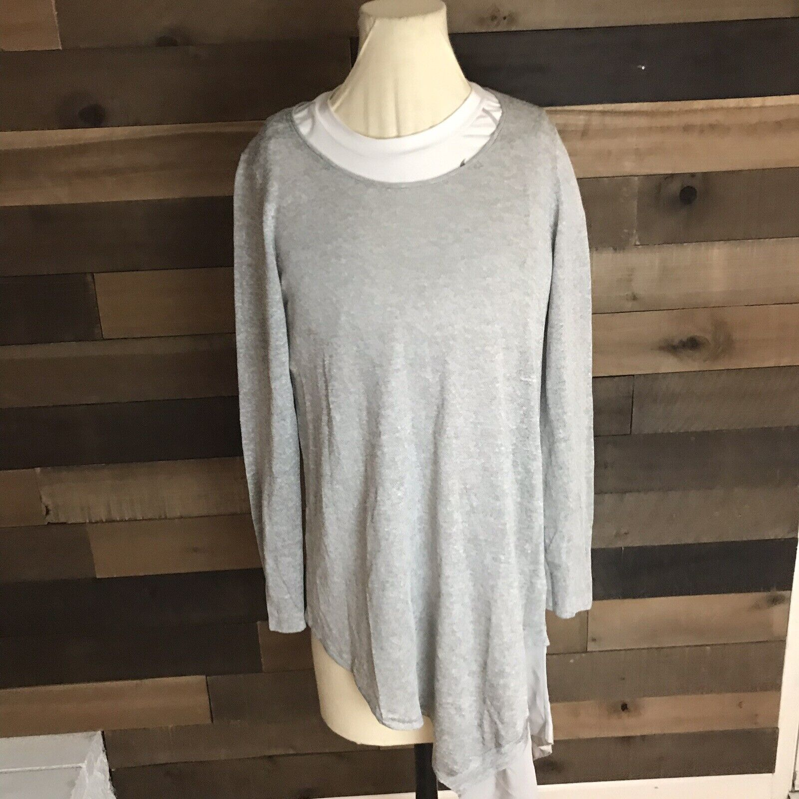 Eileen Fisher Italian Yarn Long Tunic Shirt Womens Size Xs