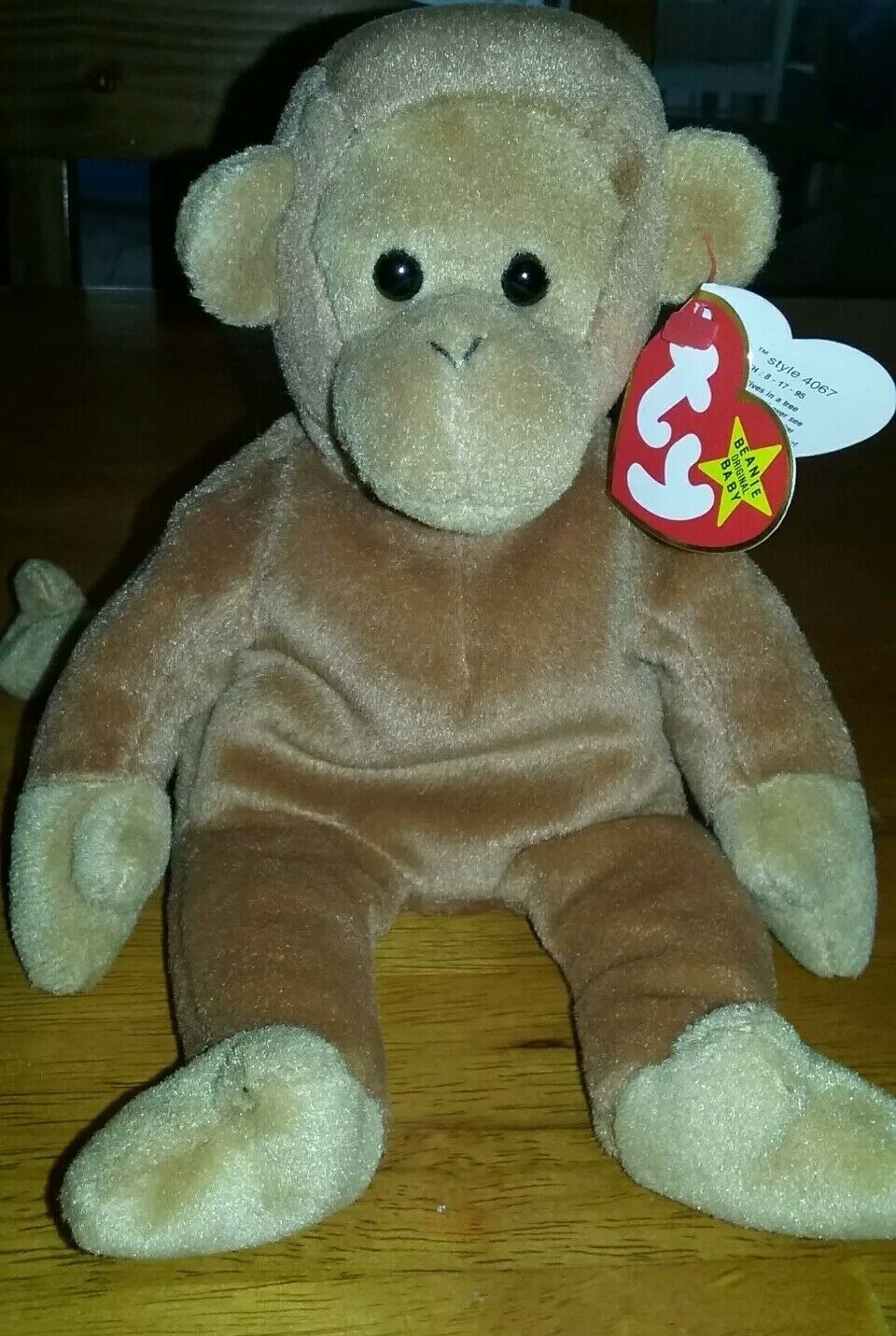 Ty Beanie Baby RARE Bongo the Monkey Original Retired