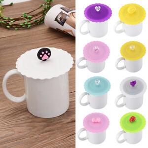 05545edb17b Cute Cartoon Anti-dust Silicone Glass Cup Cover Coffee Mug Lid Cap ...