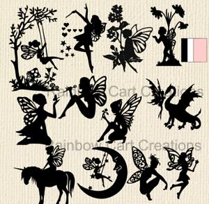 10-12 Birthday Fairy Die cut Embellishment Cutout Jar lantern Card Topper Invite