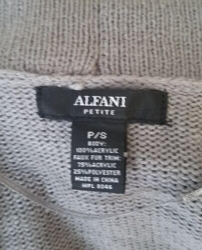 Cardigan Alfani Fur 706256911823 Kvinder Sweater Grå Ps Faux Trim SSYCzq