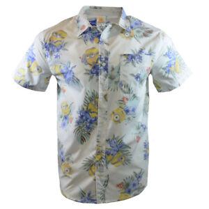 Despicable-Me-Men-039-s-Shirt-Hawaiian-Shirt-MINIONS-Reverse-Print-Dave-Carl-Stuart