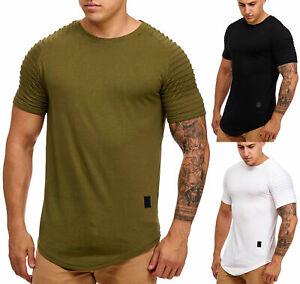 T-shirt-da-uomo-OVERSIZE-Long-Shirt-a-Maniche-Corte-nervature-Slim-Fit-9050-John-Kayna