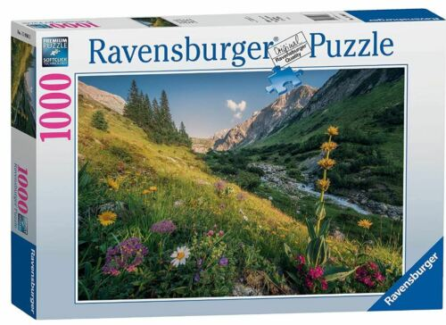 Ravensburger 1000 piece jigsaw puzzle MAGICAL VALLEY flowers stream mountain