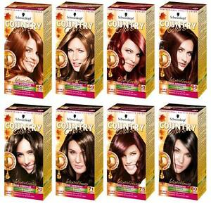 Schwarzkopf Country Colors Hair Color Dye 10 Shades To