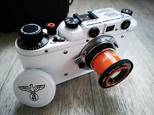 Leica II German Film Camera with leather case (Art copy by Fed)