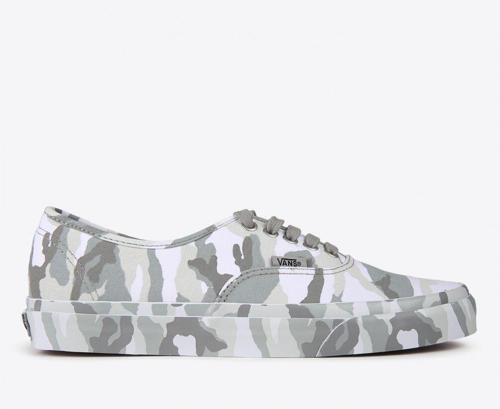 Vans Authentic (Mono Print) Snow Camo Mens Womens Shoes plimsolls Trainers New