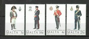 S33048 Malta 1989 MNH Military Uniforms 4v