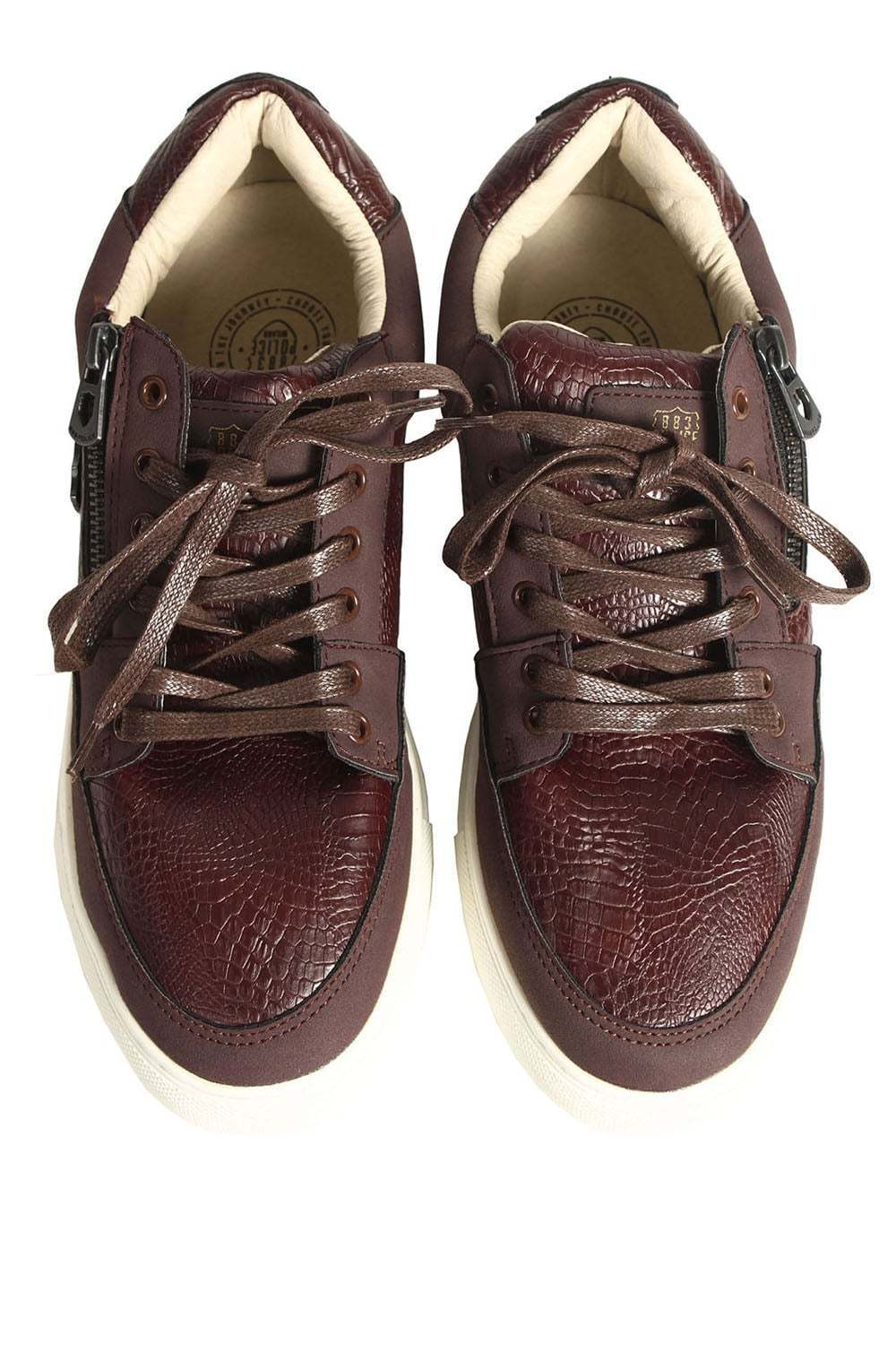 Mens Shoes Trainers 883 POLICE Game Trainers Burgundy