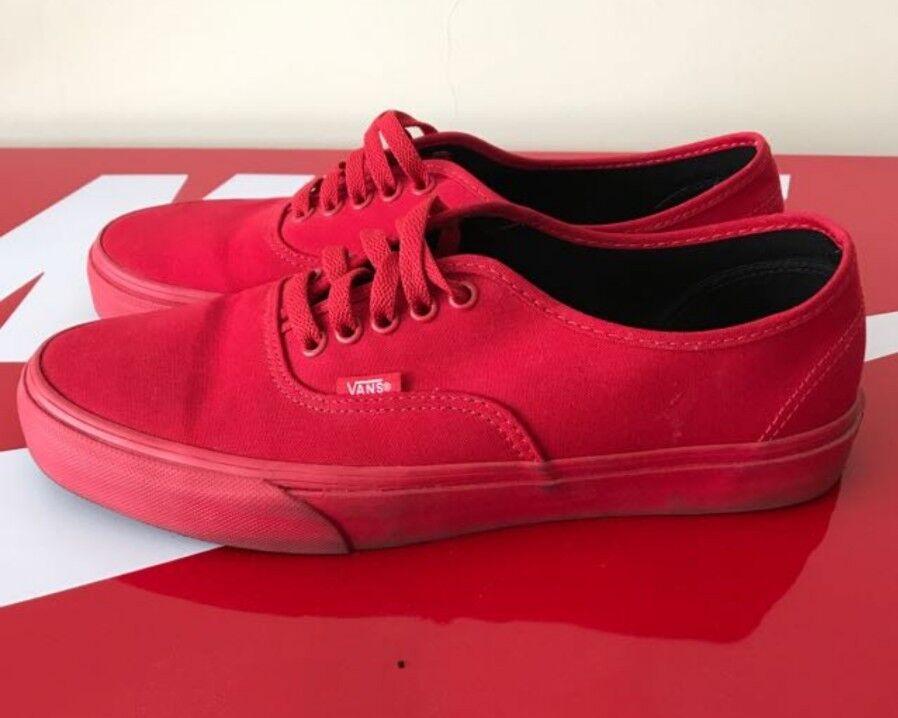 Vans Autentico Rosso Scarpe skate Triple UK8.5 Scarpe classiche da uomo