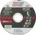 "Sait 23101 4-1/2"" x .045"" x 7/8"" Type 41/1 A60S Metal Cut-Off Wheels, 50 Pack"