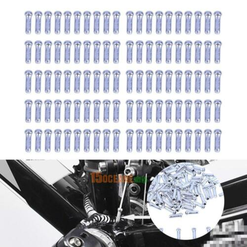 100pcs Aluminum Bike Bicycle Brake Shifter Inner Cable Tips Wire End Cap