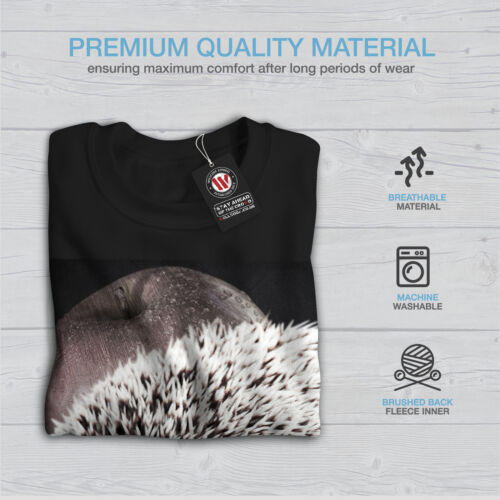 Hedgehog Apple Fun Men Sweatshirt NEWWellcoda