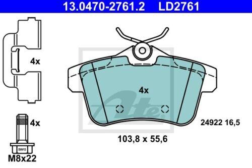 Bremsbelagsatz Frein À Disque UAT Ceramic 13.0470-2761.2 pour PEUGEOT DS Citroen