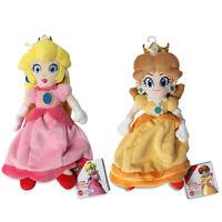 Set Of 2 - Princess Peach & Daisy - Sanei Super Mario All Star Collection Plush