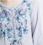 Beautiful-JOHNNY-WAS-Floral-Embroidered-BLUE-MOON-Button-Neck-Tunic-S-228 thumbnail 2