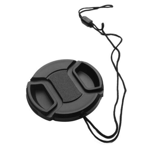 1Pcs 52 mm Front Lens Caps Center Snap on Lens Caps For DSLR Camera Plastic Cap