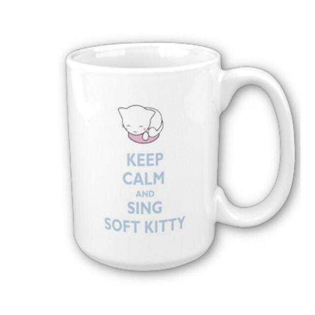 The Big Bang Theory Keep Calm Soft Kitty Geeky Mug / Cup 11oz *Free Delivery*