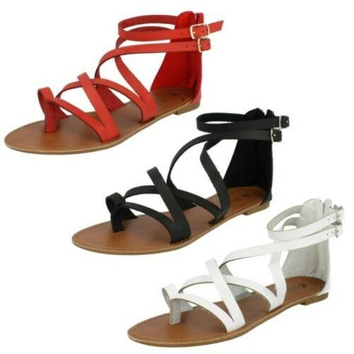 Man/Woman Spot On Ladies Ankle Strap Gladiator Sandals its Modern technology Known for its Sandals good quality Famous store BN2352 d4c5fd