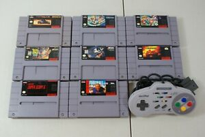 SNES-Video-Game-Lot-Super-Nintendo-Games-ascii-pad-Turbo-Controller-Authentic