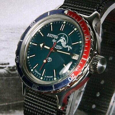 Boxed Uk Seller Vostok Amphibian New Amphibia 'scuba Dude' Auto Dive Watch