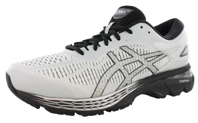 06dcb3928ea ASICS Mens GEL Kayano 25 Running Shoes 1011a019 Glacier Grey black ...