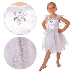 Kids-Girls-Christmas-White-Snowflake-Fairy-Fancy-Dress-Costume-Frozen-Book-Party