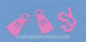 DIE-CUT-2-X-SETS-OF-SNORKEL-AND-FLIPPERS-PINK