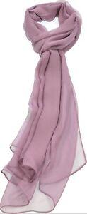 Women/'s Solid Chiffon Scarf Silk Blend Light Fresh Wrap Oblong Shawl 2 PCS