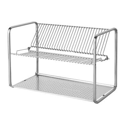 NEW IKEA ORDNING Dish Drainer Stainless Steel Drying Rack 100 181 94  10018194 | eBay