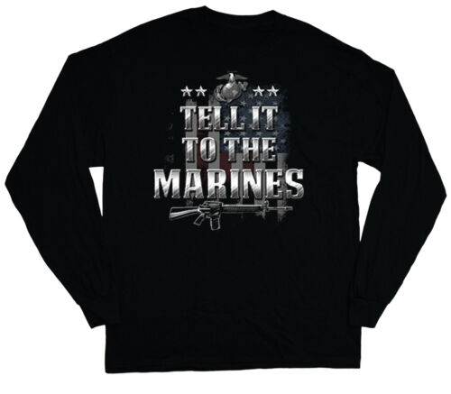 long sleeve t-shirt for men US Marines usmc marine corps us flag tee shirt mens