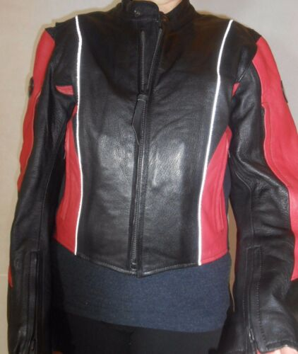 Lady Racing Størrelse Black Rider Leather Real Jacket Ladies 12 Biker EwA1q8xEY