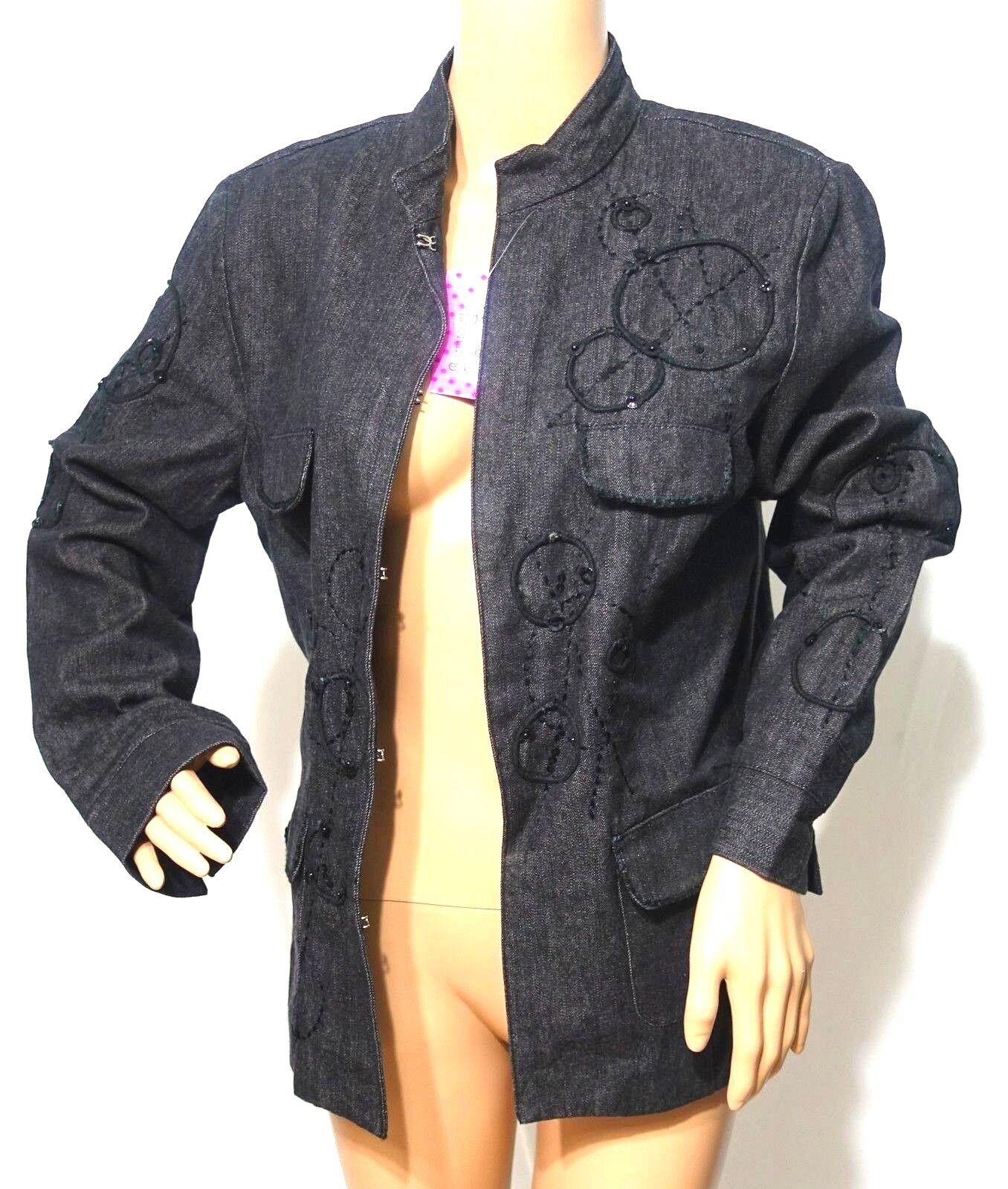 Carol s Jeans Femmes Grande Court Taille 1x Noir Court Grande Veste Haut  Paillettes Poche 9 eed805 28c109dd416f