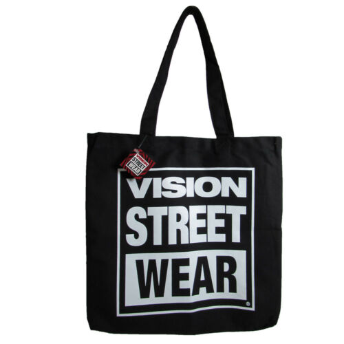 Black Vision Street Wear Unisex Canvas Tote Canvas Logo Shoulder Bag