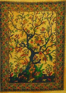 Celtic Tree Of Life Indian Cotton Small Wall Hanging Tapestry Poster Dorm Decor