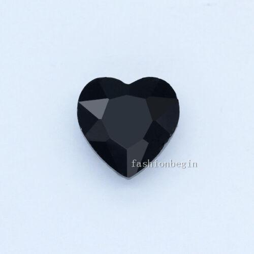 20p 10mm Forma De Corazón Cristal Trasera Puntiagudo Pedrería Cuentas de fabricación de joyería