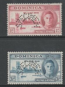 327-DOMINICA-1946-VICTORY-SPECIMEN-set-of-2-only-426-produced