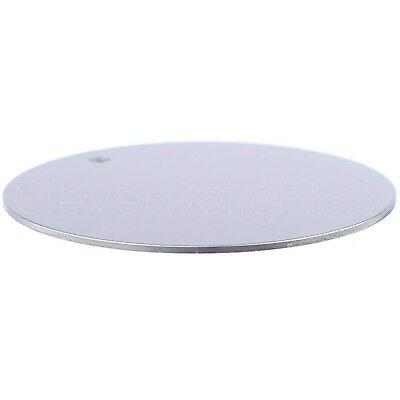 """25 Pk Shiny Anodized 18GA 3mmHole 1 1//2/"""" Round Aluminum Stamping Blanks"""