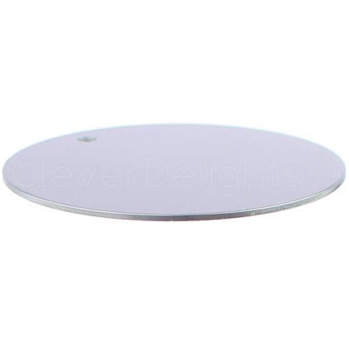 """18 GA 50 Pk 2/"""" Round Aluminum Stamping Blanks Shiny Anodized 3mm Hole"""