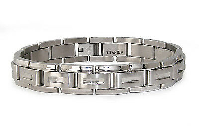 Titanium Contemporary Design Link Bracelet 8""