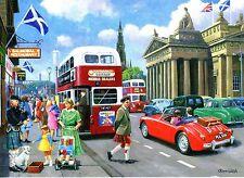 MG MGA Royal Scottish Academy Edinburgh Lothian Bus Kilt Bagpipes greeting card