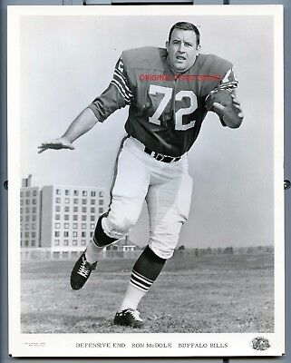 1960's RON McDOLE  Buffalo Bills AFL ORIGINAL TEAM ISSUED  8x10 PHOTO !!