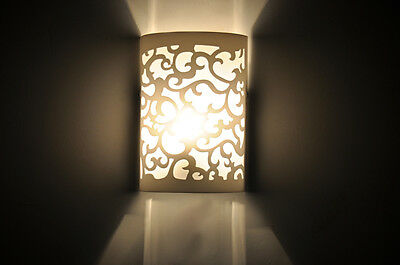 Modern Up & Down Cut Curved White Wall Light Sconce Lighting Lamp FittingIndoor