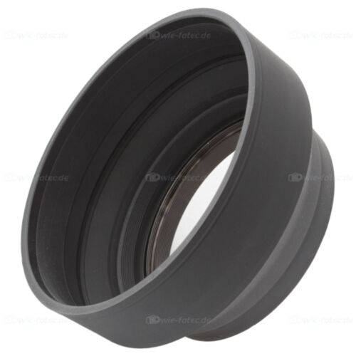 52mm Sonnenblende Gummi lens hood für Kameras Objektive