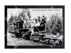 Details about HISTORIC COATS-FORDNEY LOGGING Co  ABERDEEN, WASHINGTON TRAIN  POSTCARD