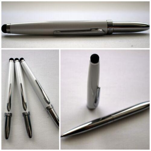 10 Stk Handy Eingabestift Weiß mit Kugelschreiber Touchpen Stift Geschenkidee