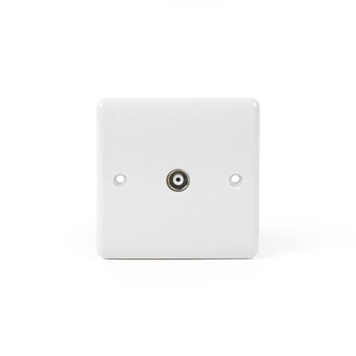 Lieber soie blanc TV Coaxial Socket-Courbé Bord