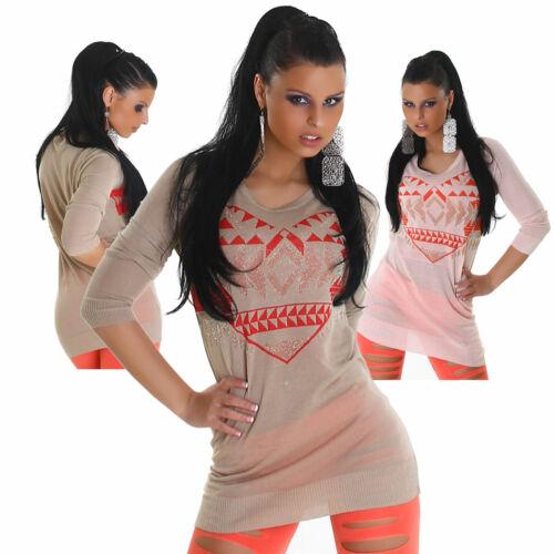 Pullover Pulli Sweater Muster Sweatshirt NEU Einheitsgröße 34 36 38 40