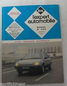 Acheter Pas Cher Revue Technique Expert Automobile 238 1987 Renault 25 Diesel Et Turbo Diesel
